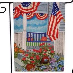 Garden Flag-New-American Country Front Porch July
